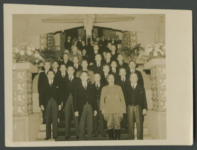 Wang Jingwei's delegation at a banquet