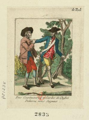 Des capitaineries et gardes de chasses delivrez nous Seigneur [estampe]