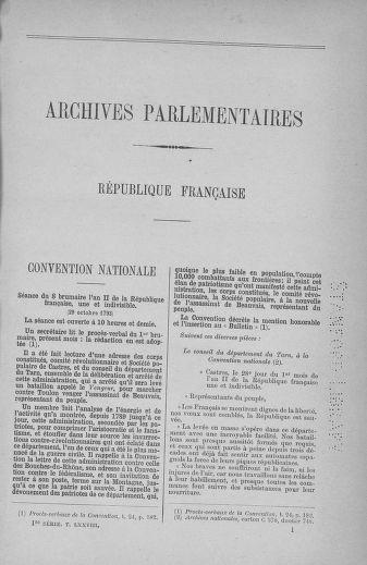 Tome 78 : Du 29 octobre au 10 novembre 1793 - page ..