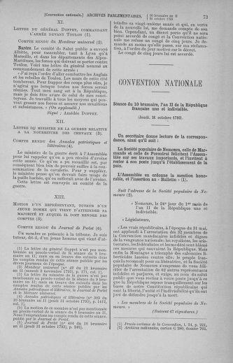Tome 78 : Du 29 octobre au 10 novembre 1793 - page 73