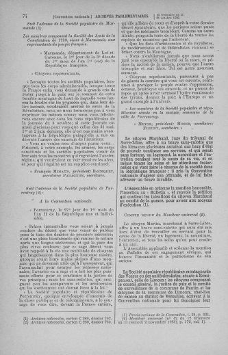 Tome 78 : Du 29 octobre au 10 novembre 1793 - page 74