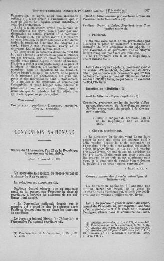 Tome 78 : Du 29 octobre au 10 novembre 1793 - page 507