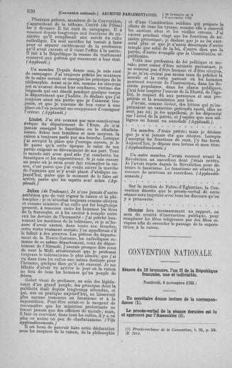 Tome 78 : Du 29 octobre au 10 novembre 1793 - page 570