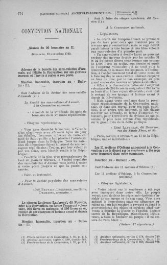 Tome 78 : Du 29 octobre au 10 novembre 1793 - page 674