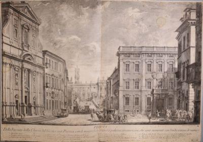 Campidoglio, visto dal piazzale della chiesa del Gesù