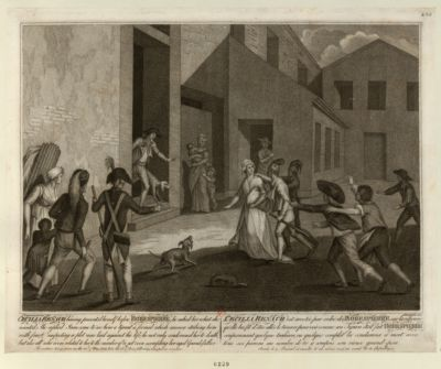 Cecilia Renaud having presented herself before Robespierre [estampe]