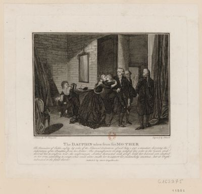<em>The</em>  Dauphin taken from his mother <em>the</em> Commithee <em>of</em> public safety by order <em>of</em> <em>the</em> National Convention... : [estampe]