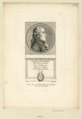 Alexis F.çois Pison du Galland fils né à Grenoble en 1747 député du Dauphiné à l'Assemblée nationale de 1789 : [estampe]