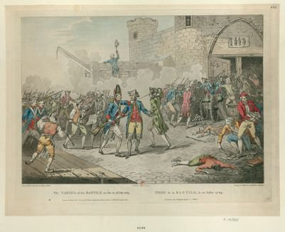 The  Taking of the Bastile on the 14 of July 1789 [estampe]