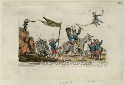 L' Armée du ci devant prince de Condé en marche pour s'opposer a la Constitution française [estampe]