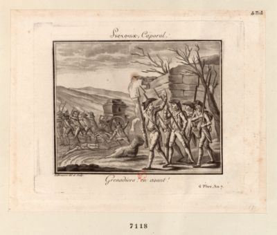 Leroux, Caporal Grenadiers ! en avant ! 6 Pluv. An 7 : [estampe]