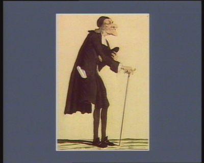 L' Abbé Quille allant publier ses ouvrages au Lycée des Arts [estampe]