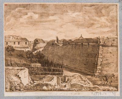 Mura Gianicolensi. Breccia aperta con il bombardamento del 1849