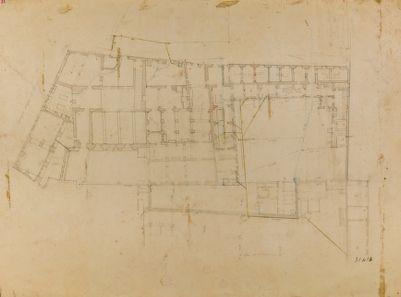 Ospedale di S. Giovanni in Laterano, pianta parziale
