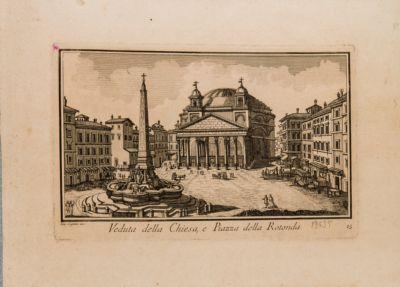 Veduta della chiesa e piazza della Rotonda