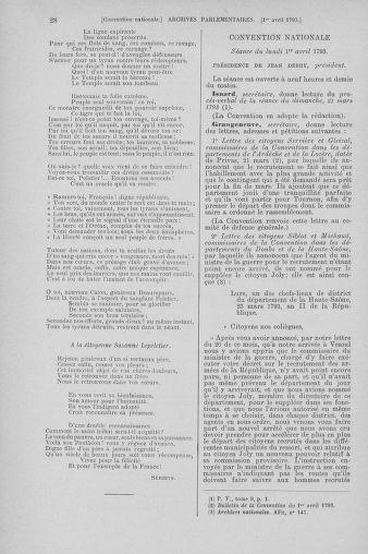 Tome 61 : Du 31 mars au 12 avril 1793 - page 28