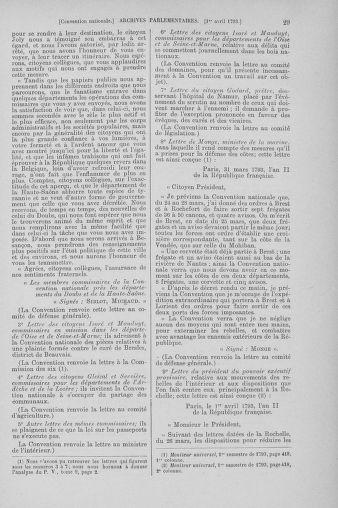Tome 61 : Du 31 mars au 12 avril 1793 - page 29