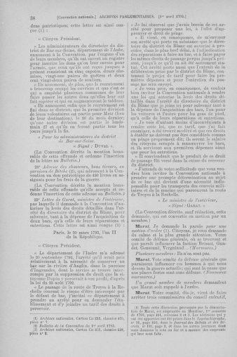 Tome 61 : Du 31 mars au 12 avril 1793 - page 38