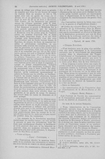 Tome 61 : Du 31 mars au 12 avril 1793 - page 86