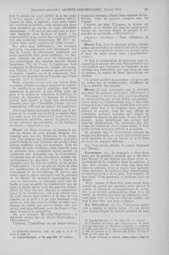 Tome 61 : Du 31 mars au 12 avril 1793 - page 91