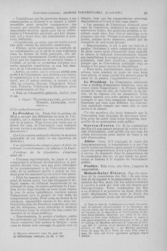 Tome 61 : Du 31 mars au 12 avril 1793 - page 93