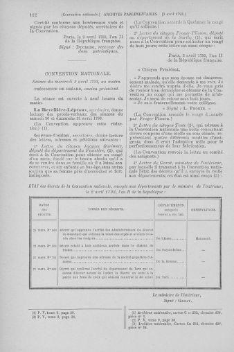 Tome 61 : Du 31 mars au 12 avril 1793 - page 112