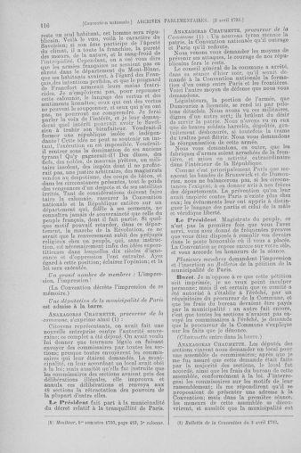 Tome 61 : Du 31 mars au 12 avril 1793 - page 116