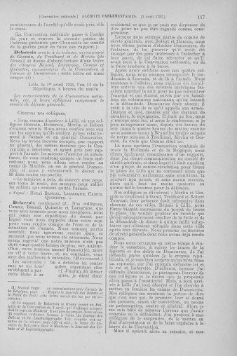 Tome 61 : Du 31 mars au 12 avril 1793 - page 117