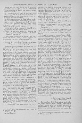 Tome 61 : Du 31 mars au 12 avril 1793 - page 119
