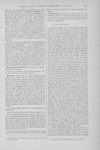 Tome 61 : Du 31 mars au 12 avril 1793 - page 125