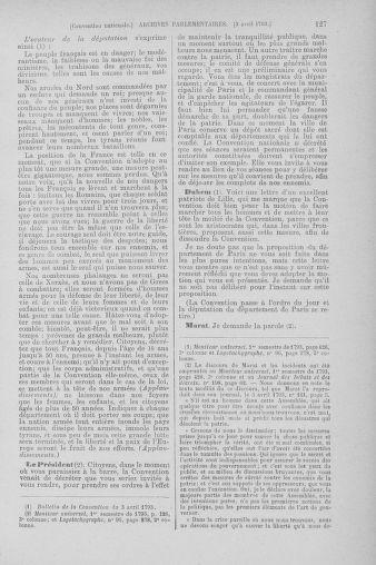 Tome 61 : Du 31 mars au 12 avril 1793 - page 127