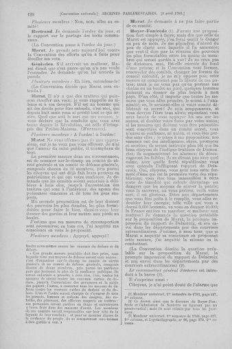 Tome 61 : Du 31 mars au 12 avril 1793 - page 128