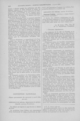 Tome 61 : Du 31 mars au 12 avril 1793 - page 260
