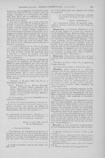 Tome 61 : Du 31 mars au 12 avril 1793 - page 261