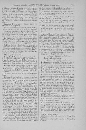 Tome 61 : Du 31 mars au 12 avril 1793 - page 279