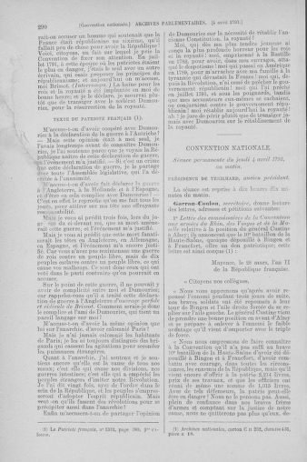 Tome 61 : Du 31 mars au 12 avril 1793 - page 290