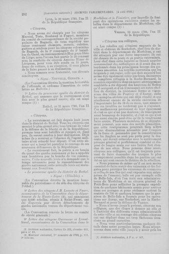 Tome 61 : Du 31 mars au 12 avril 1793 - page 292