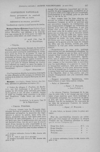 Tome 61 : Du 31 mars au 12 avril 1793 - page 317