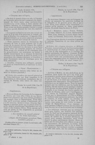 Tome 61 : Du 31 mars au 12 avril 1793 - page 321
