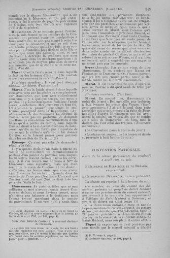Tome 61 : Du 31 mars au 12 avril 1793 - page 345