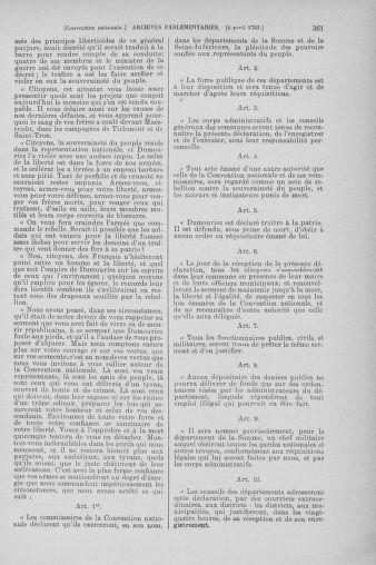 Tome 61 : Du 31 mars au 12 avril 1793 - page 361