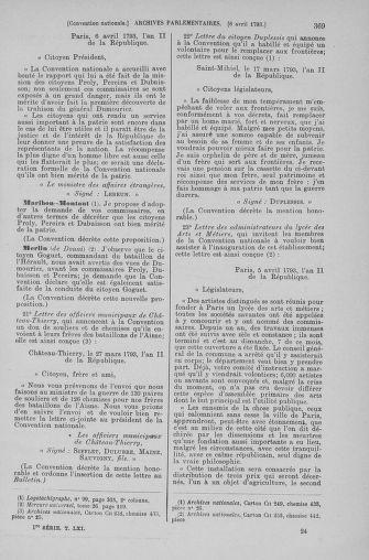 Tome 61 : Du 31 mars au 12 avril 1793 - page 369