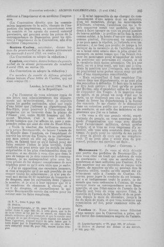Tome 61 : Du 31 mars au 12 avril 1793 - page 395