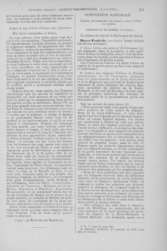 Tome 61 : Du 31 mars au 12 avril 1793 - page 413