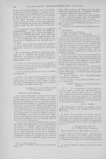 Tome 61 : Du 31 mars au 12 avril 1793 - page 414