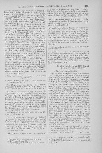 Tome 61 : Du 31 mars au 12 avril 1793 - page 415