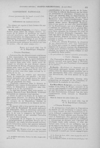 Tome 61 : Du 31 mars au 12 avril 1793 - page 451