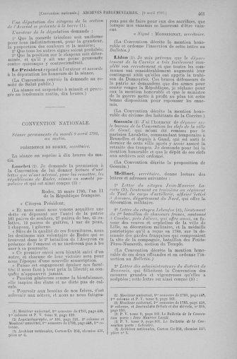 Tome 61 : Du 31 mars au 12 avril 1793 - page 461