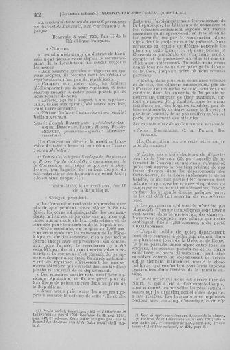 Tome 61 : Du 31 mars au 12 avril 1793 - page 462