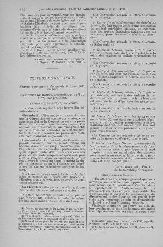 Tome 61 : Du 31 mars au 12 avril 1793 - page 494